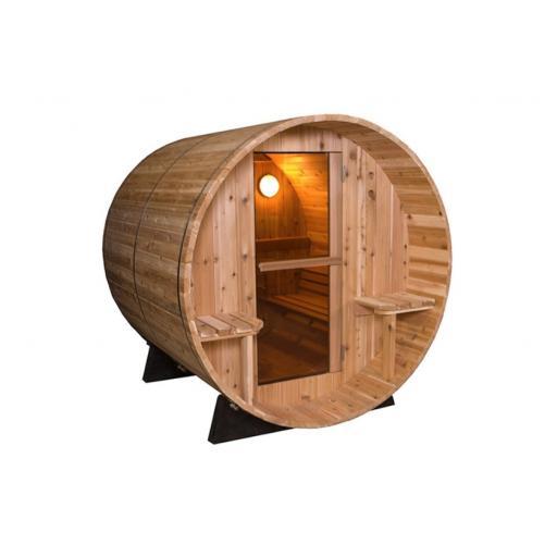 Barrel Rustic 7+1ft Sauna