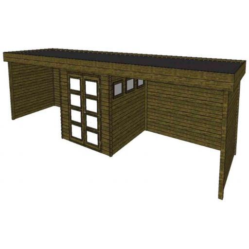 Summerhouse / log cabin Kikbuild Module 1100 x 300