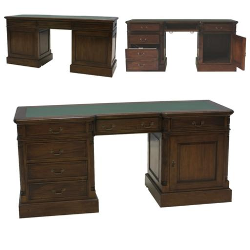La Roque Twin Pedestal Computer Desk