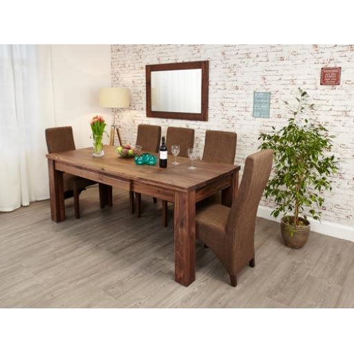 Mayan Walnut Extending Dining Table